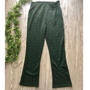 Free People Geo Patterned Flare Knit Pants